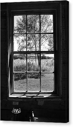 Old Window Bw Canvas Print by Joanne Coyle