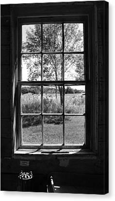 Old Window Bw Canvas Print