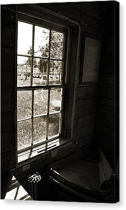 Old Window Canvas Print by Joanne Coyle