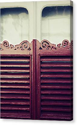 Old Window Shutters Canvas Print