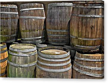 Old Wine Barrels Canvas Print