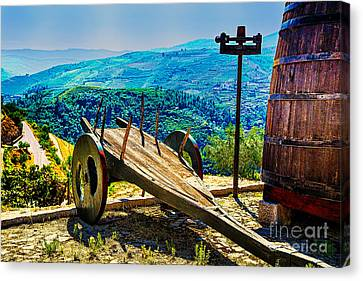 Old Wine Cart Canvas Print