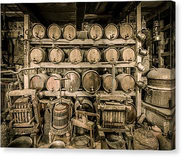 Old Wine Cellar 3 Canvas Print by Roy Pedersen