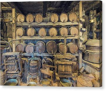 Old Wine Cellar 4 Canvas Print by Roy Pedersen