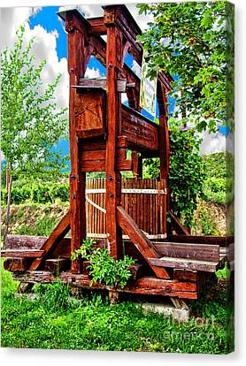 Old Wine Press Canvas Print by Mariola Bitner