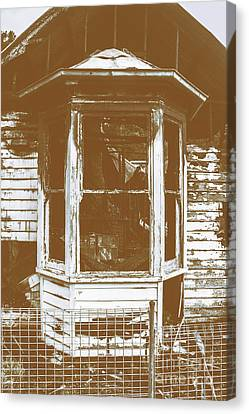 Old Wooden Burnt House Destroyed By Fire Canvas Print by Jorgo Photography - Wall Art Gallery