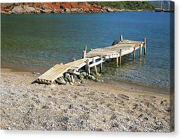 Old Wooden Dock Canvas Print by Phyllis Taylor