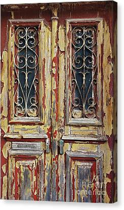 Ironwork Canvas Print - Old Wooden Doors by Carlos Caetano