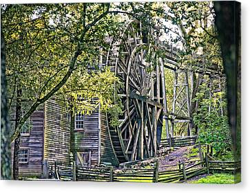 Canvas Print featuring the photograph Old Wooden Mill by Kim Wilson