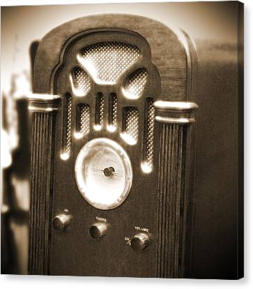 Old Wooden Radio Canvas Print by Mike McGlothlen