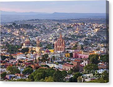 San Miguel De Allende Canvas Print - Old World City Skyline by Jeremy Woodhouse