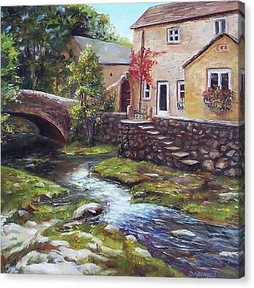 Old World Cottage Canvas Print by Donna Munsch