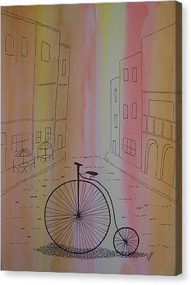 Old World Cycle Canvas Print