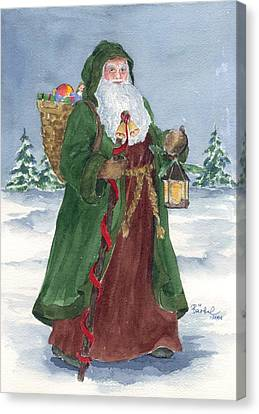 Old World Father Christmas Canvas Print by Barbel Amos