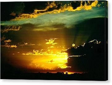 Old World Sunset Canvas Print by Shirley Sirois