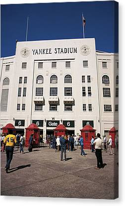 Old Yankee Stadium Last Game Canvas Print by Paul Plaine