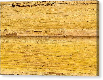Canvas Print featuring the photograph Old Yellow Paint On Wood by John Williams