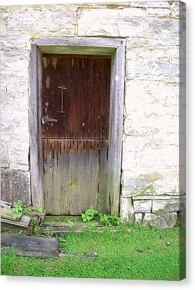 Old Yingling Flour Mill Door Canvas Print by Don Struke