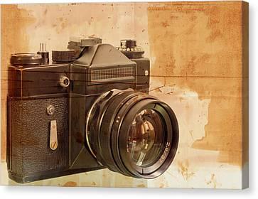 Old,dusty Photo Camera Canvas Print by Boyan Dimitrov