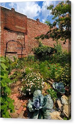 Olde Allegheny Community Gardens Pittsburgh Pennsvylvania Canvas Print by Amy Cicconi