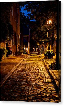 Independance Canvas Print - Olde Town Philly Alley by Mark Dodd