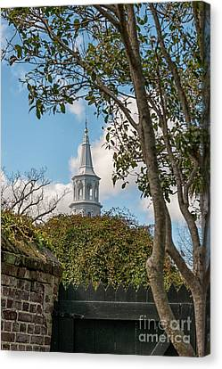 Oldest Church In Charleston Canvas Print by Dale Powell
