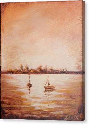 Oldest City Lights Canvas Print by Michele Hollister - for Nancy Asbell