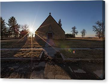 Canvas Print featuring the photograph Oldham, Sd by Aaron J Groen