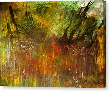 Oldpond#7biofrogmedicine Canvas Print by Contemporary Art By PEARSE