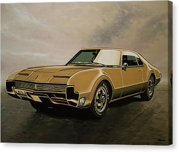 Oldsmobile Toronado 1965 Painting Canvas Print by Paul Meijering