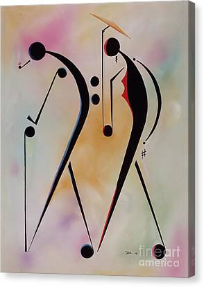 Figures Canvas Print - Ole Folks by Ikahl Beckford
