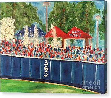 Shower Canvas Print - Ole Miss Swayze Beer Showers by Tay Cossar Morgan
