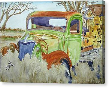 Ole Rusty Green Canvas Print