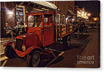 Ole Towne Happenings Canvas Print by Mary Lou Chmura