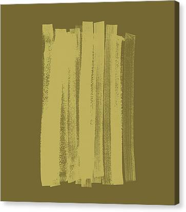 Abstract Expressionism Canvas Print - Olive On Olive 1 by Julie Niemela