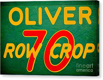 Oliver 70 Row Crop Canvas Print by Olivier Le Queinec