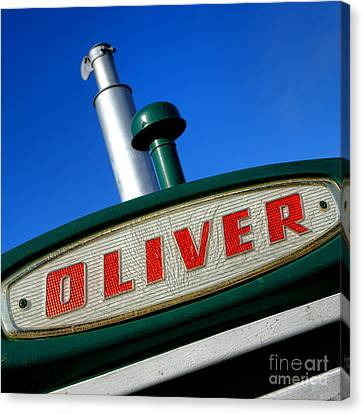 Oliver Tractor Nameplate Canvas Print by Olivier Le Queinec