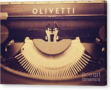 Olivetti Typewriter Canvas Print by Giuseppe Esposito
