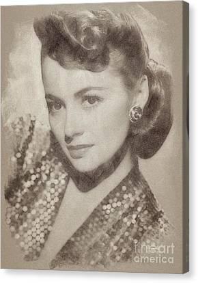 Olivia De Haviland Hollywood Actress Canvas Print by John Springfield