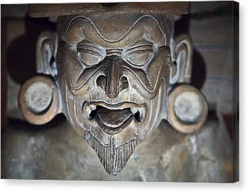 Olmec Statue2 Canvas Print by John  Bartosik