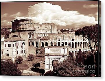 Colosseum From Roman Forums  Canvas Print by Stefano Senise