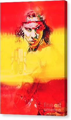 Olympia 2016 Hereos Rafael Nadal Canvas Print by Felix Von Altersheim
