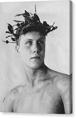 Olympian Corey By Gibbons Canvas Print by E Gibbons