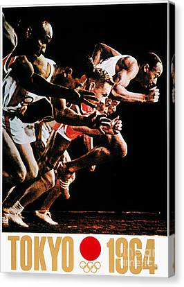 Footrace Canvas Print - Olympic Games, 1964 by Granger