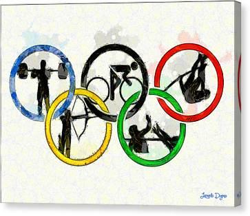 Olympic Games - Da Canvas Print by Leonardo Digenio