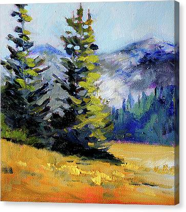 Canvas Print featuring the painting Olympic Range by Nancy Merkle