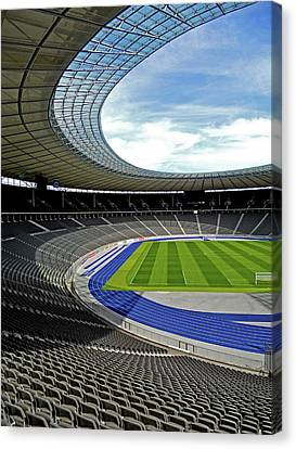 Olympic Stadium - Berlin Canvas Print by Juergen Weiss
