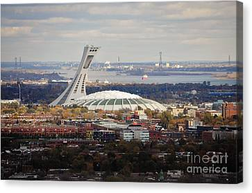 Olympic Stadium  Canvas Print by Reb Frost