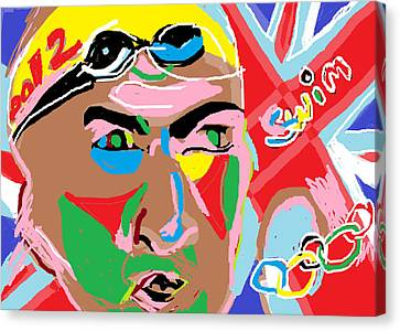 Olympics 2012 Swim Canvas Print by Anita Dale Livaditis