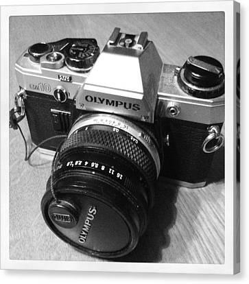 Olympus Om10 Slr Camera Canvas Print
